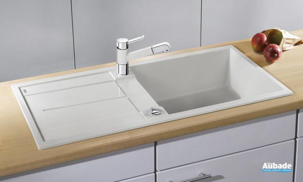 évier sous meuble blanc avec petite cuve Blanco BlancoMetra XL 6S