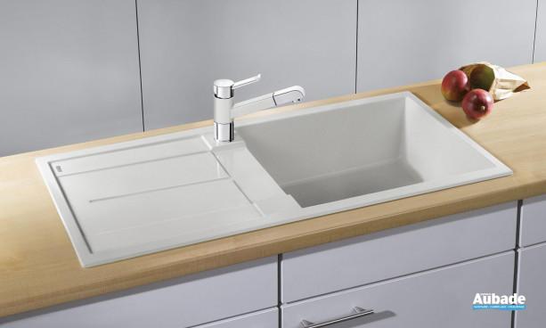évier sous meuble blanc avec grande cuve Blanco BlancoMetra XL 6S