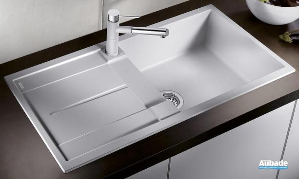 évier sous meuble blanc avec égouttoir Blanco BlancoMetra XL 6S