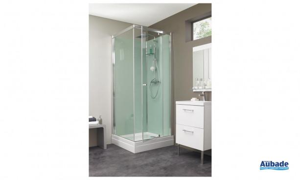 Cabine de douche complète Eden de Kinedo en verre avec robinet de douche à effet
