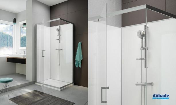 Cabine de douche intégrale Moorea avec porte pivotante version Confort de Hoeschby Leda