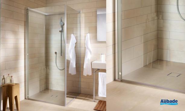 paroi de douche avec porte pliable Duravit Open Space