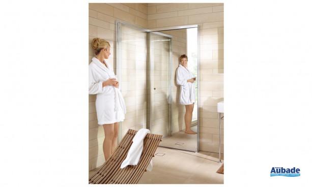 paroi de douche en verre porte pliable duravit espace aubade. Black Bedroom Furniture Sets. Home Design Ideas