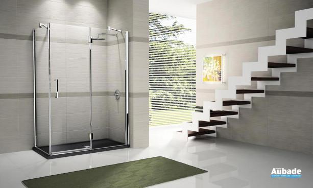 paroi de douche porte pivotante novellini louvre espace. Black Bedroom Furniture Sets. Home Design Ideas