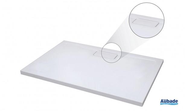 Receveur Roterra en 3 versions: rectangle, carré et quart de rond