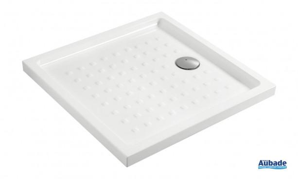 Receveur extra plat carré et antidérapant Villeroy & Boch O.novo