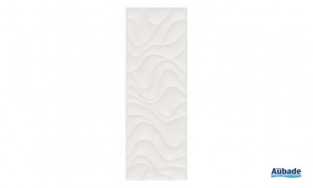 Carrelage Faïence Océane avec motifs vagues coloris blanc