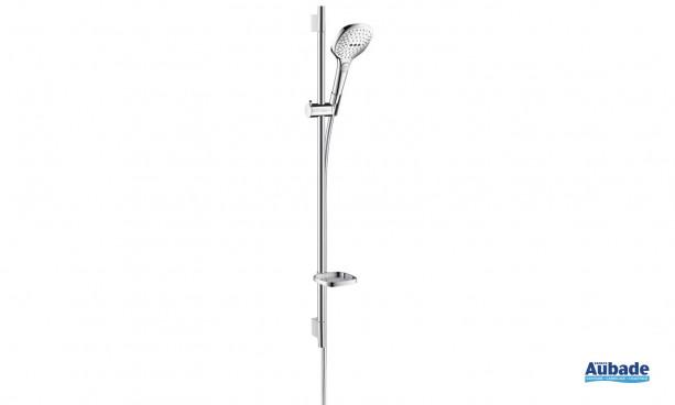 Set Raindance Select E 120 de Hansgrohe avec douchette à main et barre de douche design