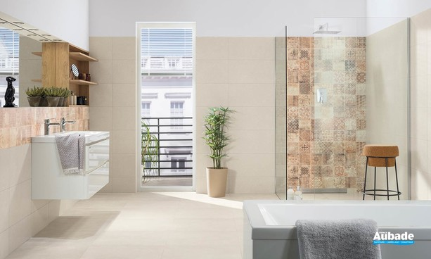 Collection Betonico par Lasselsberger en coloris Light Beige et Brown