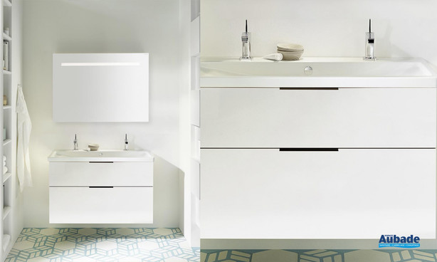 Meuble de salle de bains Eqio Smart Blanc de Burgbad