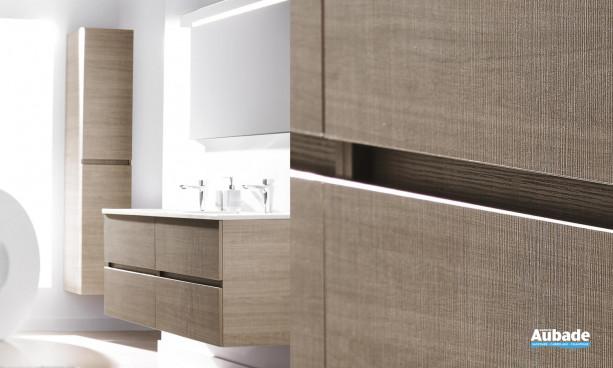 Meuble de salle de bains imitation chêne d'Ambiance Bain modèle Ketty