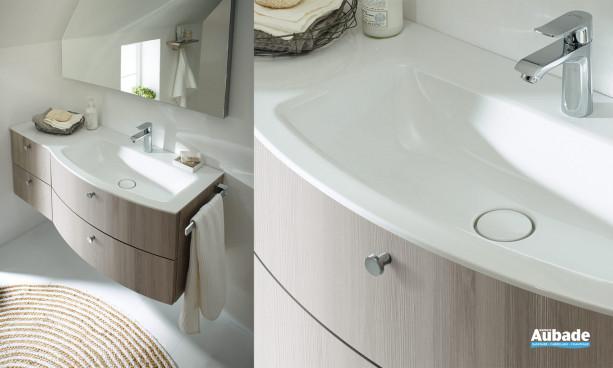 plan de toilette en cémarique avec la vasque à droite
