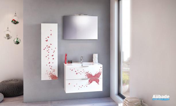 Meuble imprimé de salle de bain Unique 80 Delpha