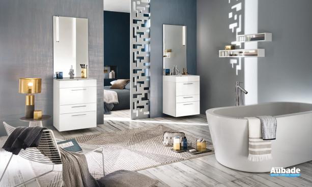 Meuble de salle de bains Unique Laque Glossy