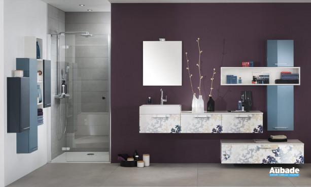 Meuble de salle de bain imprimé de Delpha