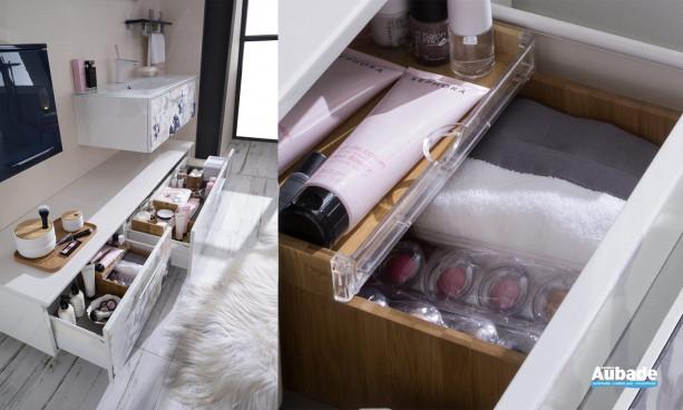 Tiroir avec aménagement pour cosmétiques du meuble Unique Impression Envol