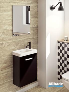 Lave-mains Tic Tac coloris noir extra mat par Decotec