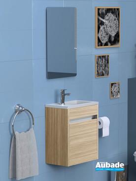 Meuble lave-mains de la collection Abyss par Lido coloris frêne