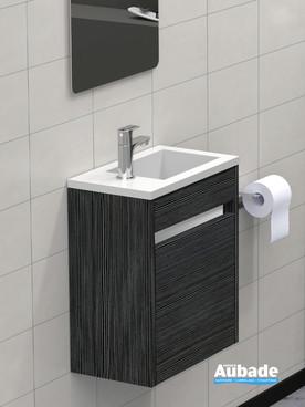 Meuble lave-mains de la collection Abyss par Lido coloris gris structuré
