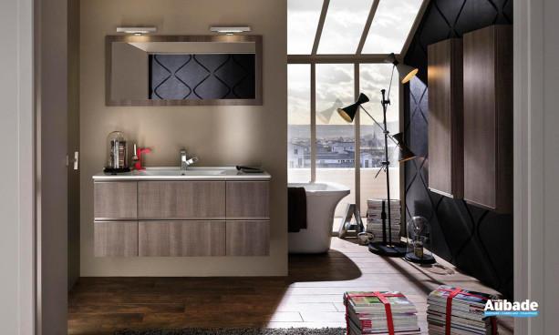 Ensemble Unique 123 m finition bois pour salle de bains