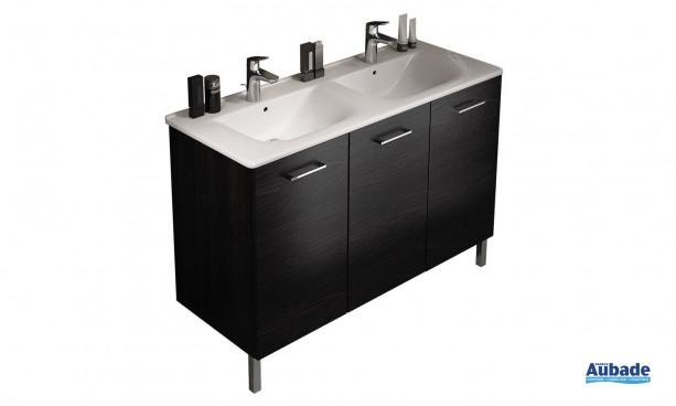 Plan avec 2 vasques pour meuble Proceram 124 cm Delpha