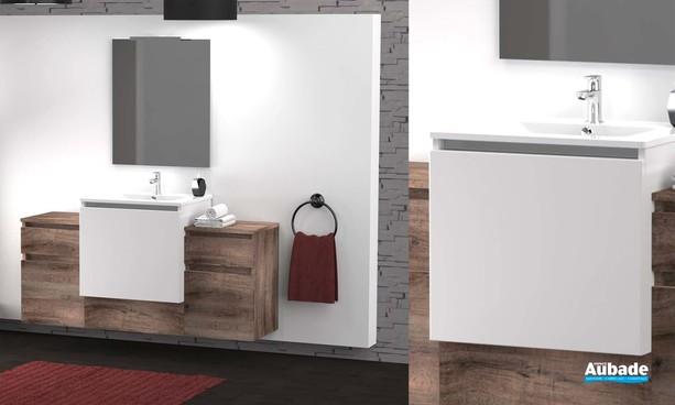 Meubles de salle de bains Modulo de Lido - Bois Brut Miel
