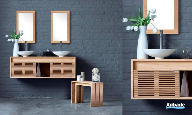 ensemble salle de bains avec double vasque bol