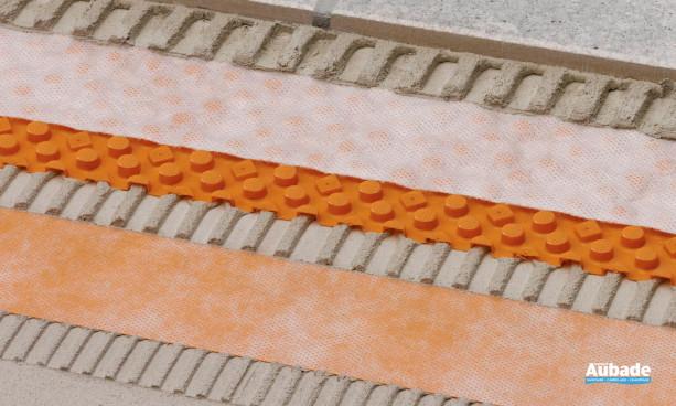 Schlüter®-DITRA-DRAIN de Schluter systems natte de drainage sous carrelage terrasse