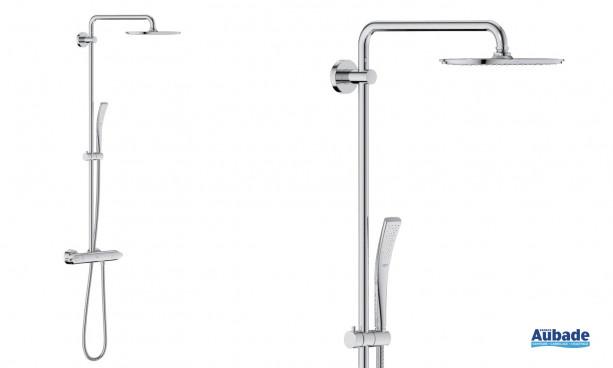 Colonne de douche Veris System de Grohe avec douchette et système SpeedClean