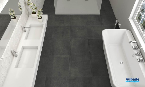 Collection Maxxi Rivet par Tau Ceramica en coloris Graphite
