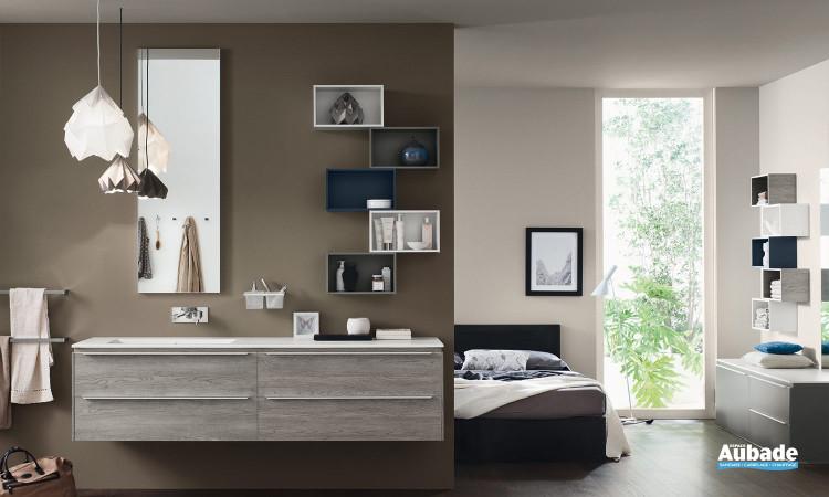 Meuble sous-vasque coloris Olmo Grey Progetto+ d'Inda
