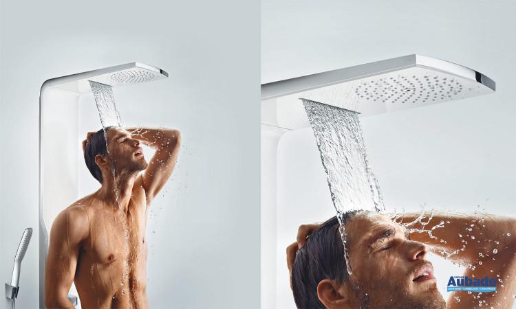 Robinetterie colonne de douche Duschpaneel Raindance Lift de Hansgrohe