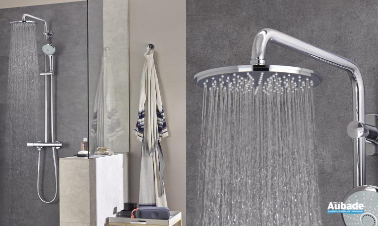 Colonne de douche hydromassante avec douchette Euphoria System de Grohe