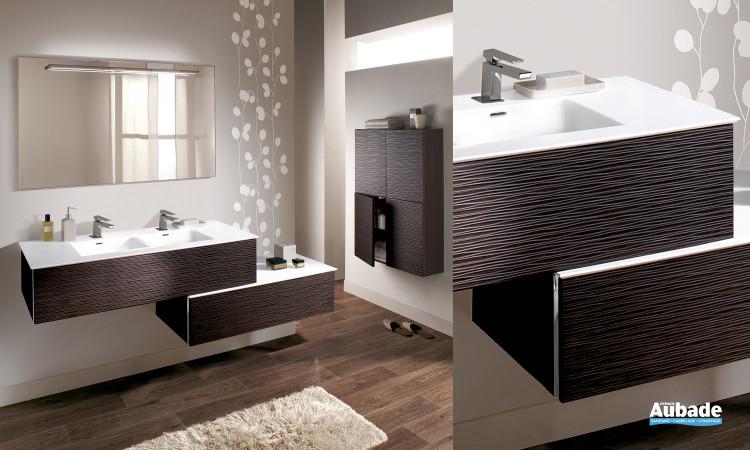 Meubles salle de bains bois lido majik first espace aubade - Meuble de salle de bain lido ...
