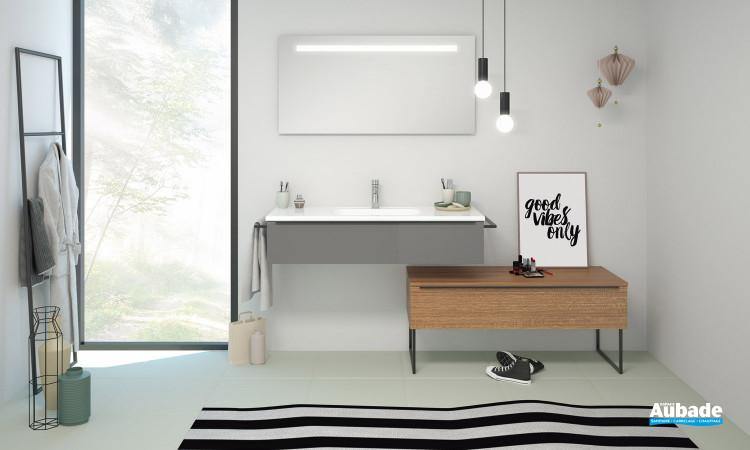 Meuble de salle de bains Style II coloris gris foncé mat de Burgbad