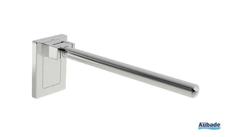 barre d'appui chromée design pour WC PMR Hewi Warm Touch