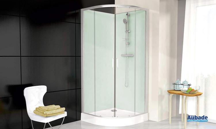 Cabine de douche complète Corail 3 de Leda avec portes coulissante