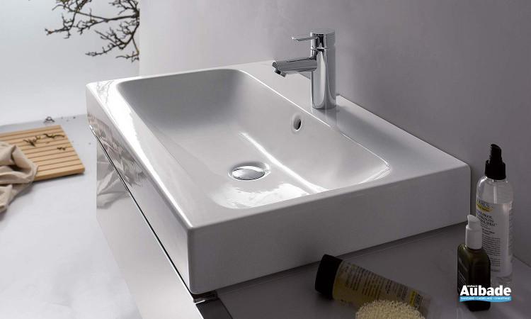 Plan vasque épuré blanc Allia Lovely
