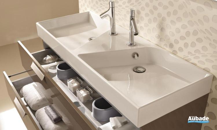 plan vasque en céramique disponible en plusieurs dimensions de Jacob Delafon Formilia Rythmik