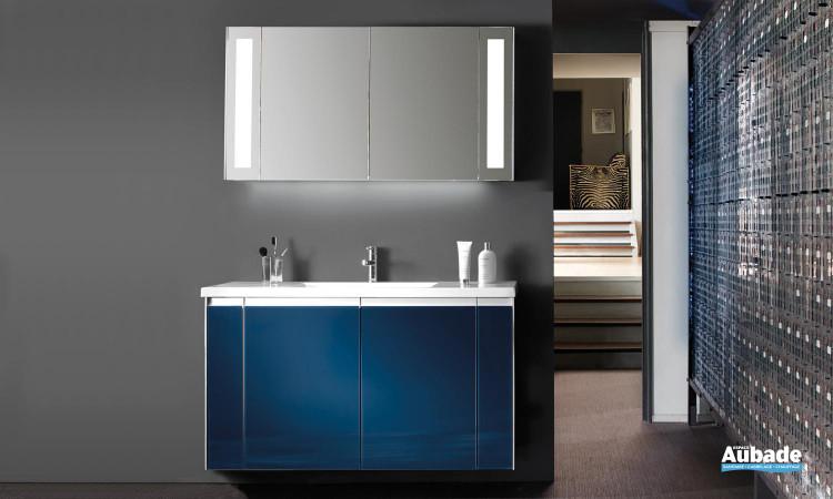 ensemble Smart de Decotec avec meuble vasque verre bleu petrole