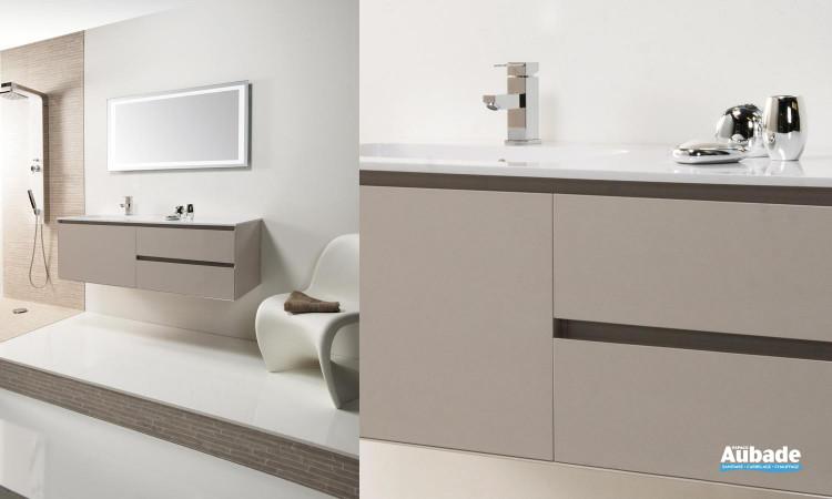meuble sous vasque gris CEDAM Elite