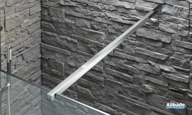 Barre de renfort en acier inoxydable pour paroi de douche Contra porte walk-in de Jacob Delafon