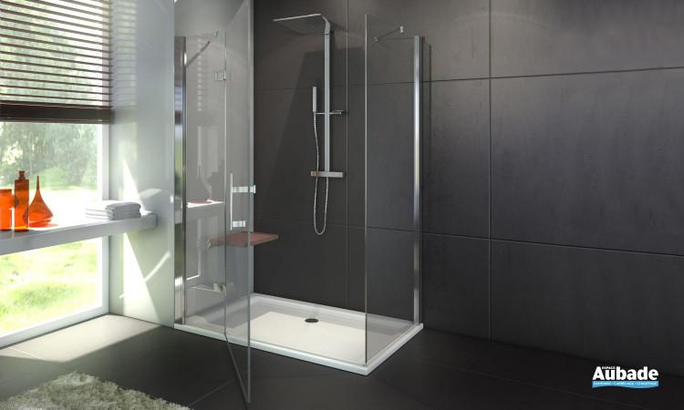 Paroi de douche fermée Leda Django avec porte pivotante