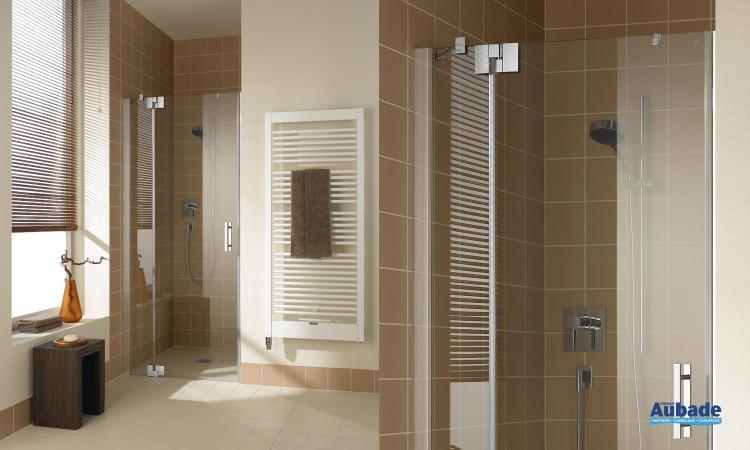 paroi de douche transparente avec porte pivotante Rothalux FILIA XP - FX 1TR/L