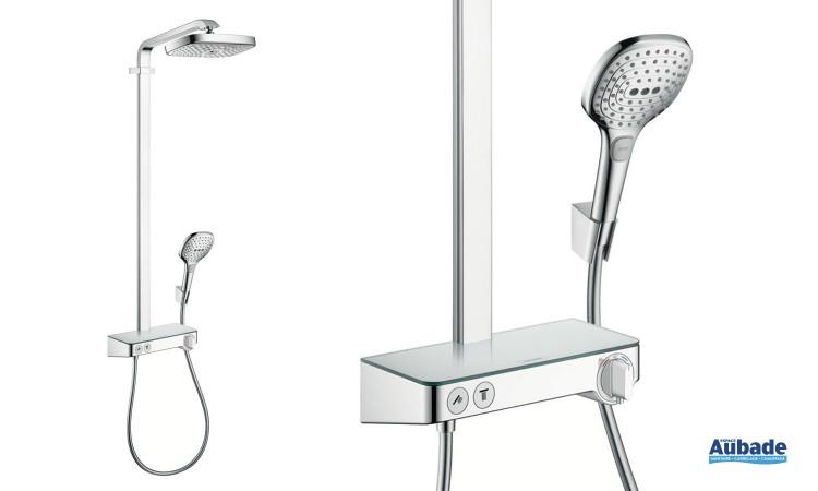 Colonne de douche Showerpipe Raindance Select E300 3jet de Hansgrohe