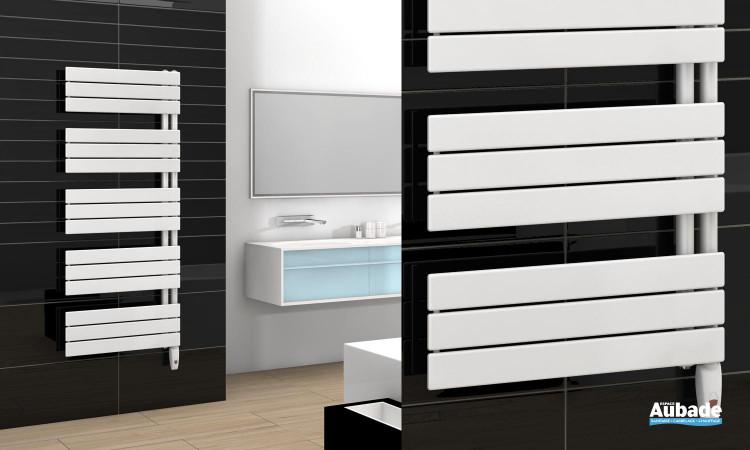 Radiateur sèche-serviettes Arborescence de Finimetal avec version sans soufflant coloris blanc