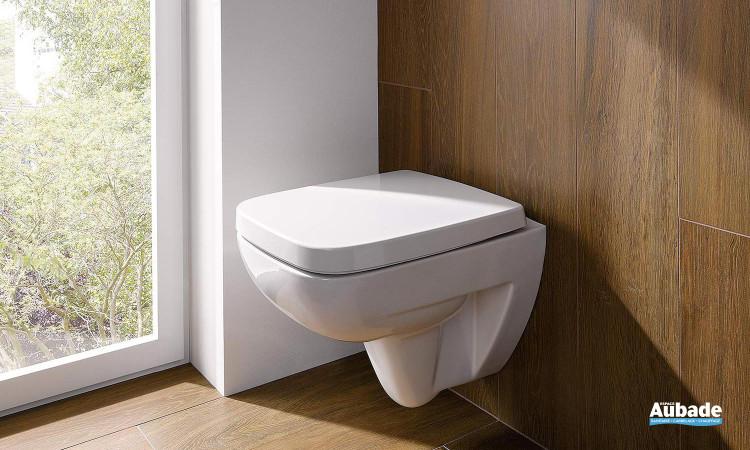 Pack WC suspendu avec cuvette et abattant à fermeture Prima Style Compact de Allia
