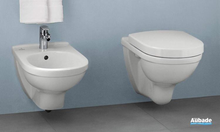 Ensemble WC avec cuvette suspendue et à fond creux O.novo de Villeroy & Boch