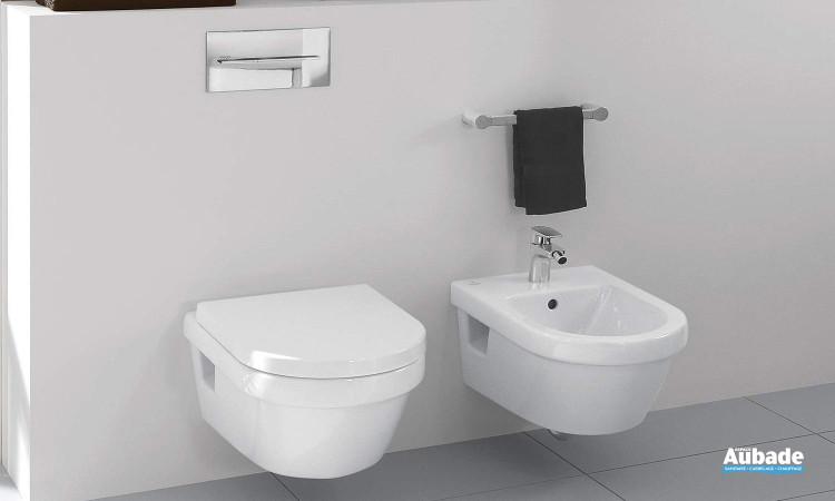 WC suspendu avec cuvette à fond creux et abattant Targa Architectura Design de Villeroy & Boch