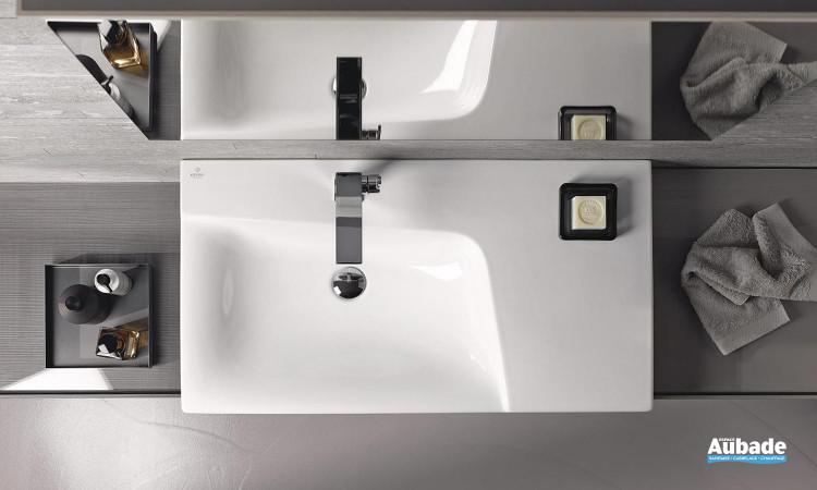 Plan de toilette céramique Xeno 2 de Keramag Design